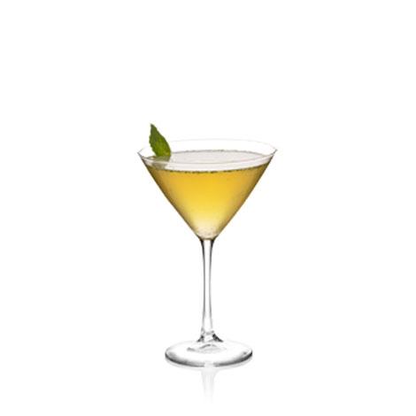 Minty Peach Martini